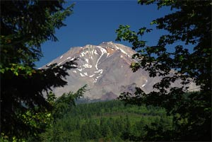 View of Mount Shasta from Hedge Creek Falls